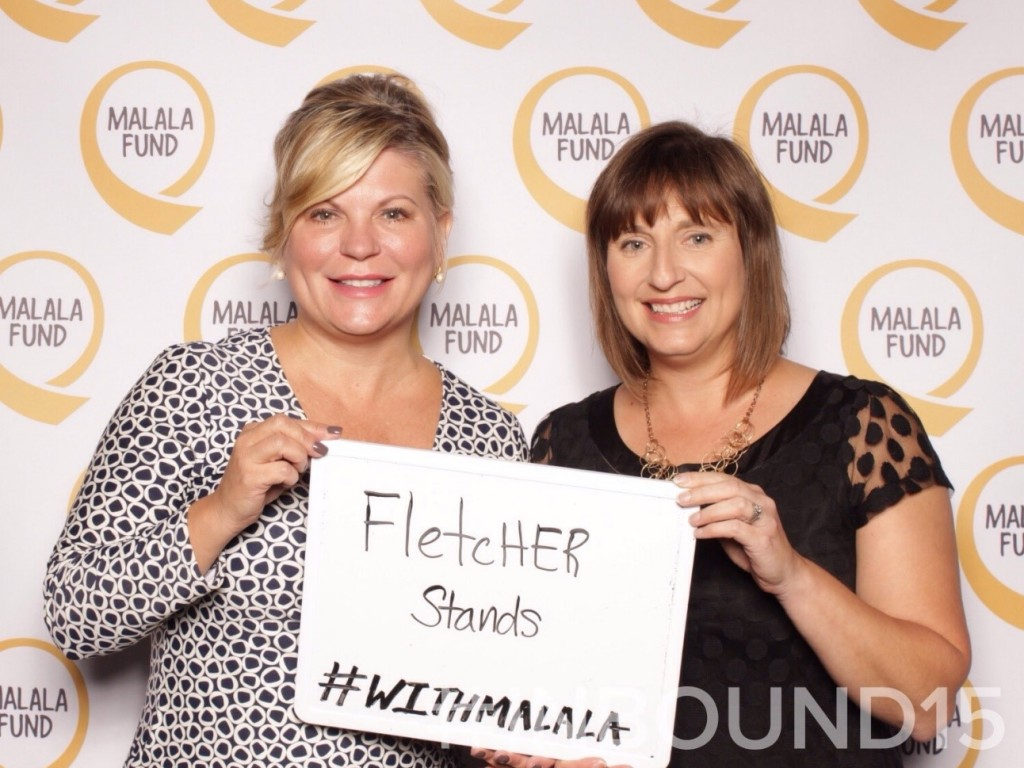 Fletcher stands with Malala
