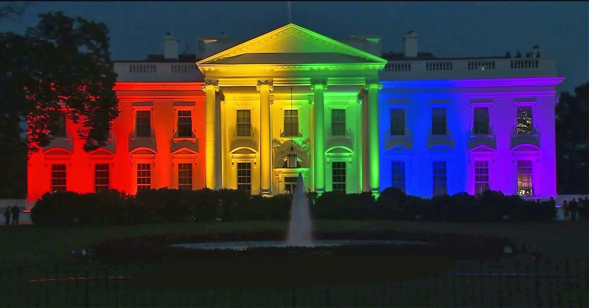 White House - Source: http://www.ajc.com/news/news/national/white-house-rainbow-lights-after-scotus-marriage-e/nmmwj/